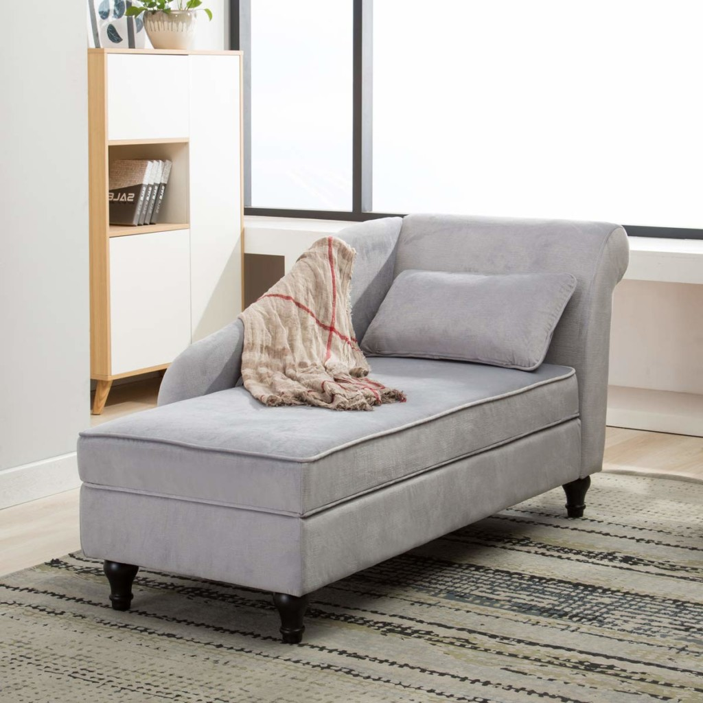 Chaise Lounge Sofa Couch Storage
