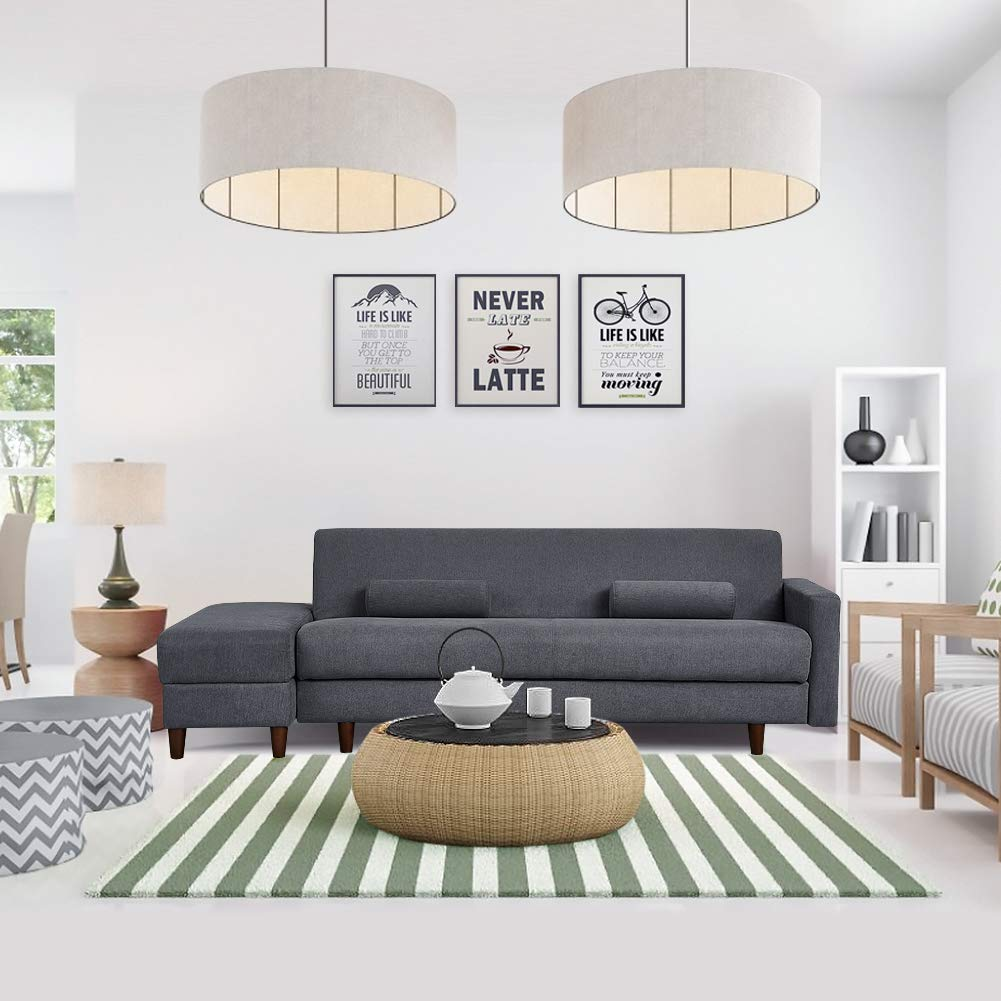 Convertible Sectional Sofa Couch with Storage
