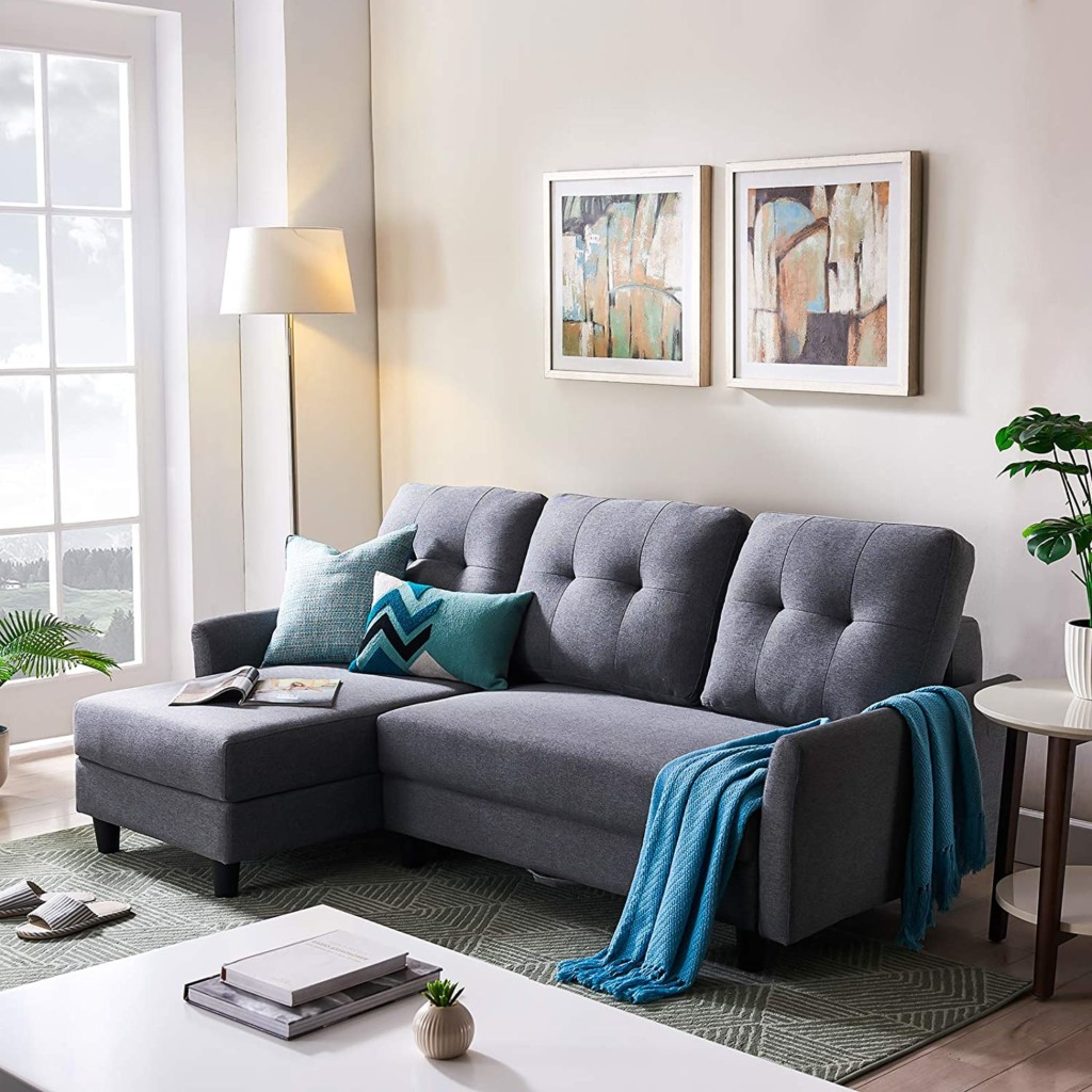 HONBAY L Shape Sofa Couch with Storage