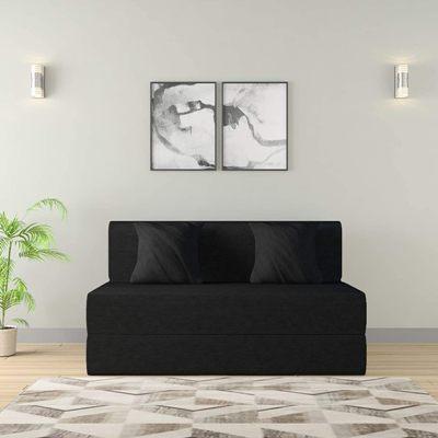 Amazon Brand - Solimo Cosmo Fabric 2 seater Sofa cum Bed